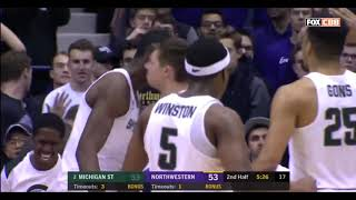 2/17/2018  Michigan State 65  Northwestern 60