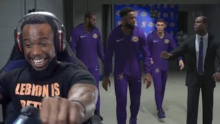 My First Game As A Los Angeles Lakers Starter with Lebron! NBA 2K19 MyCareer Ep. 16