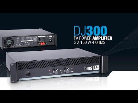 LD Systems DJ300 - PA Power Amplifier 2 x 150 W 4 Ohms