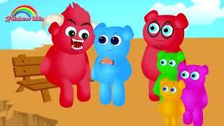 Cute Mega Gummy Bears Dentes Saiu Por Ter Música Familiar Chocolate Dedo E Mais Músicas Infantis