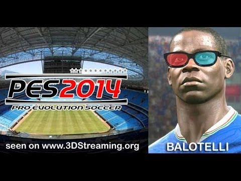 PES2014 PC in s3D Sample with TriDef | Real3D sbs YT3D