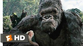 King Kong (3/10) Movie CLIP - Kong Battles the T-Rexes (2005) HD