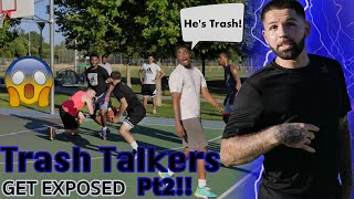 Trash Talkers Get Exposed Pt2! Crazy AnkleBreaker 5v5 Basketball!