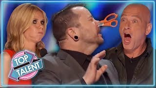 MOST DANGEROUS AUDITIONS EVER On America's Got Talent!   Top Talent