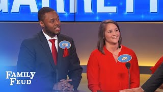 Sweet moment! Hear what happened when Jane met her man! | Family Feud