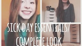 Sick/ Lazy Day Hair, Makeup, Outfit & Essentials