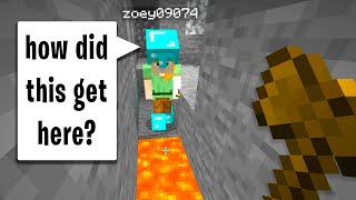 Invisibility trolling a minecraft noob on my server..
