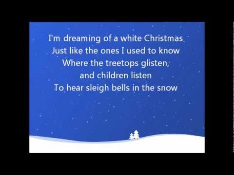 White Christmas- Bing Crosby (Lyrics)