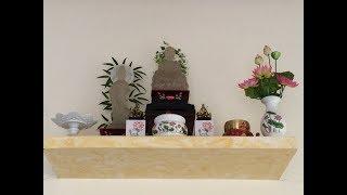 Cách lập bàn thờ Phật tại gia