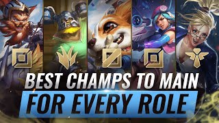 3 BEST Champions To MAIN For EVERY ROLE in Season 10 - League of Legends