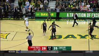 Texas Tech vs Baylor Men's Basketball Highlights