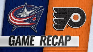 Jones, Blue Jackets take down Flyers in overtime, 4-3