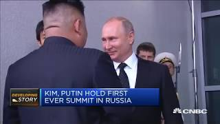 Kim Jong Un meets Putin for the first time | Squawk Box Europe