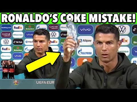 """Ronaldo Tanks Coca-Cola Stock! Says """"Drink Water""""! Makes ONE MISTAKE! 