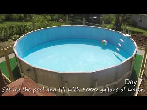 Intex Pool 20 X 52 Ultra Frame Using Sand And Salt Water Pump