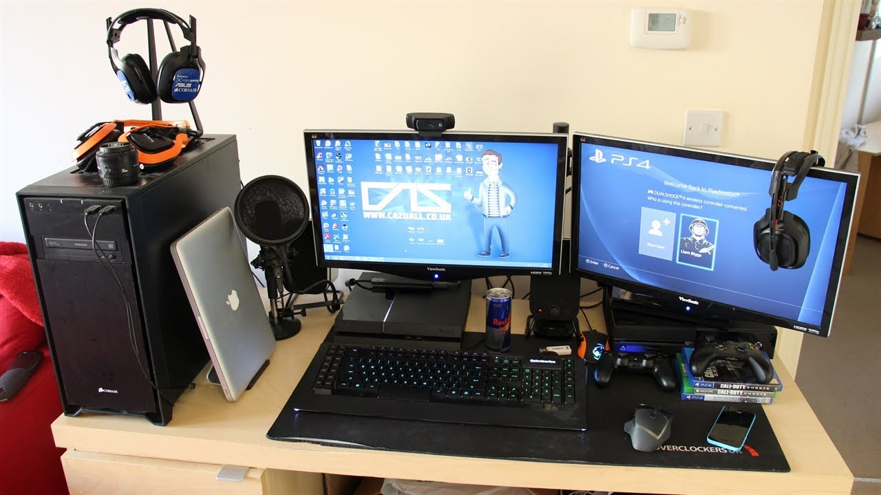 My Gaming Setup My Pc With Xbox One Amp Ps4 Christmas