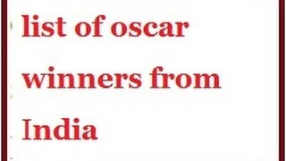 oscar and nobel award