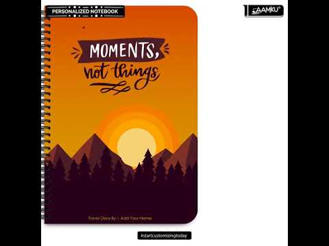 Collects Moments Not Things Design | Best Designer Notebooks Online India