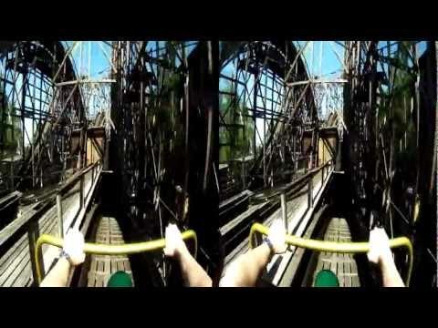 BeMe Cam: Helsinki Linnanmäki roller coaster - Rift fisheye test