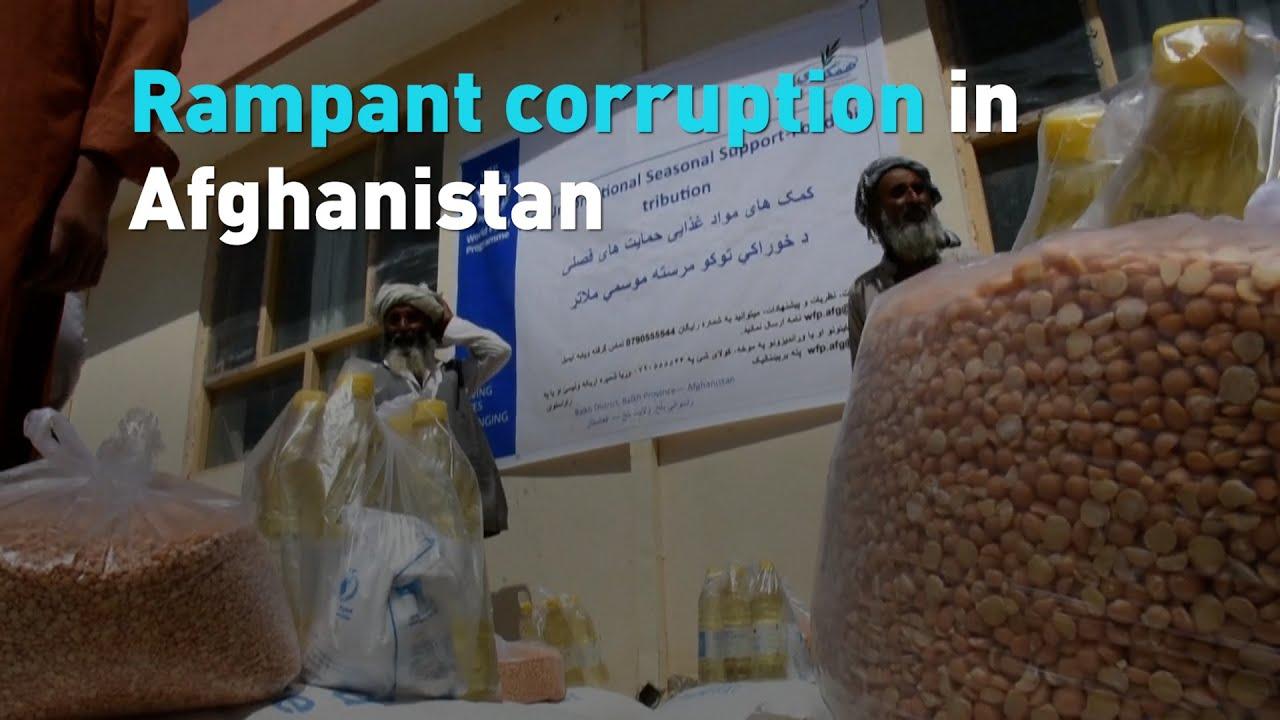 Rampant corruption in Afghanistan