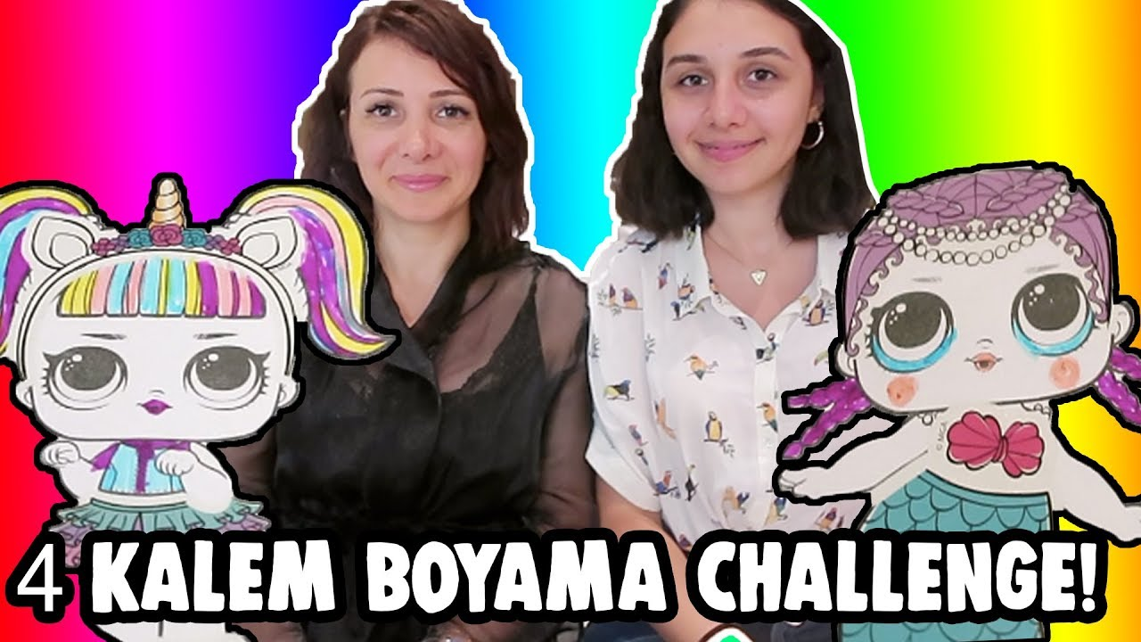 Lol Surpriz 4 Kalem Boyama Challenge En Pahali Orijinal Lol Bebek