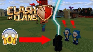 Monster School : Fighting Clash Of Clans - Minecraft Animations