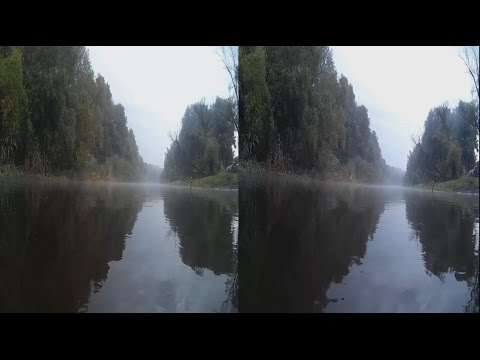 River,Fog,Rain ... Relaxation and Meditation . 3D VIDEO