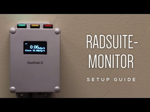 How to Set up an Area Radiation Monitoring System (RadWall-S & RadSuite-Monitor)