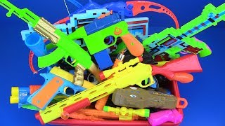 Box of Toys ! Colored Toys Guns & Equipment - Gun,Crossbow,Rifles and more Colored toys for Kids