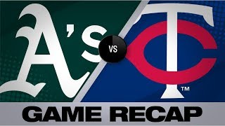 Davis' go-ahead single leads A's past Twins | Athletics-Twins Game Highlights 7/20/19