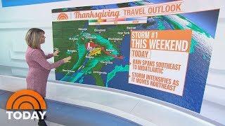 EEUU: La nieve, la lluvia y el viento podrían amenazar los viajes de Acción de Gracias