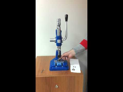 Micron Dep-2 Grommet Attaching machine with #4 Self-Piercing grommets