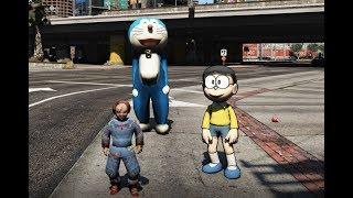 GTA 5 - Doremon cứu Nobita khỏi búp bê ma Chucky| Doraemon vs Chucky | GHTG