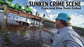 Found Sunken Crime Scene While Fishing - Cops Called with GUNS drawn!