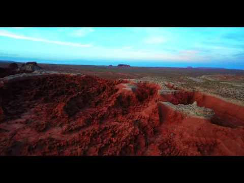 Goblin Valley at Sunset via Drone