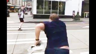 Alex Jones Runs Around Yelling At People (VIDEO)