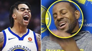 "Andre Iguodala Says ""THE WARRIORS SPIT IN MY FACE""& D'ANGELO RUSSELL SIGNS WITH WARRIORS!! IGGY GONE"