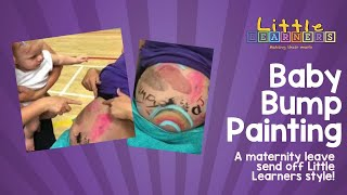 Kids Baby Bump Painting | Making their Mark with Paint at Little Learners | Messy Play