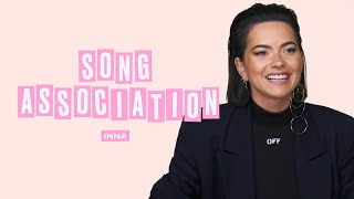 INNA Sings Lady Gaga, JLo, and Pink in a Game of Song Association   ELLE
