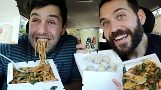 TRYING FAMOUS CHINESE FOOD with my lover, JOSH PECK!!