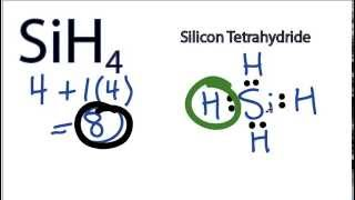 SiH4 Lewis Structure - How to Draw the Lewis Structure for SiH4 (Silicon Tetrahydride)