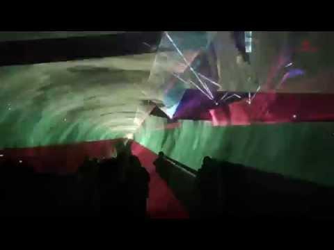 Pokaz laserowy harfa laserowa Kongres Klastrów Dąbrowa Górnicza 2015 LASERY INFO
