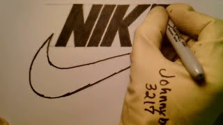 How To Draw Nike Logo All Freehand Drawing Perfect Swoosh Easy NBA Step By  Step #