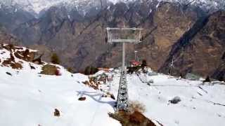Beautiful view from Auli's rope-way...