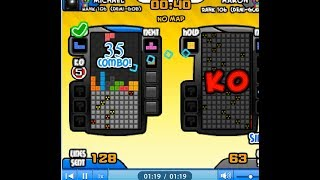 Tetris Battle 35 combo with bombs! (NEW  WORLD RECORD 2017) 【Battle 2P】