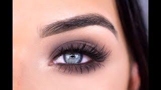 Matte Smokey Eye Makeup Tutorial | Smashbox Minimalist Cover Shot Palette