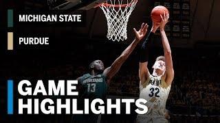 Highlights: Michigan State at Purdue | Big Ten Basketball