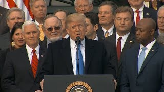 President Donald Trump delivers remarks on GOP tax bill| ABC News