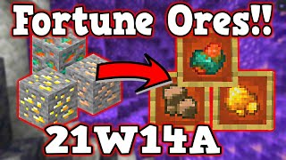 🔴 FORTUNE WORKS on Iron, Gold and Copper 🔴 Snapshot 21w14a 🔴 New Raw Ores #short