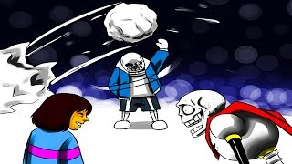 Sans, Papyrus & Frisk's Snowball Fight Goes Wrong... (Undertale Comic & Animation Dubs)